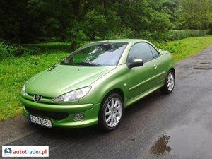 Peugeot 206 CC 2.0 2004 r. - zobacz ofertę