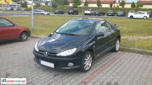 Peugeot 206 2.0 2001 r.,   7 800 PLN