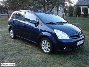 Toyota Corolla Verso 2.0 2004 r.,   24 800 PLN