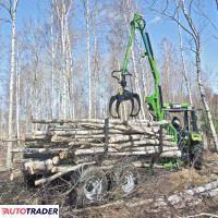 Kellfri Przyczepa leśna 6 ton z żurawiem - zobacz ofertę