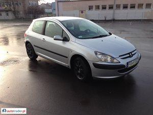 Peugeot 307 2.0 2002 r.,   8 500 PLN