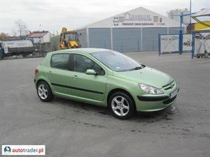 Peugeot 307 2.0 2002 r.,   11 900 PLN