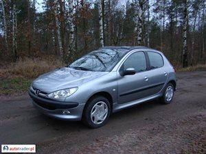 Peugeot 206 1.4 2004 r.,   9 900 PLN