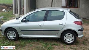 Peugeot 206 1.4 2003 r.,   8 900 PLN