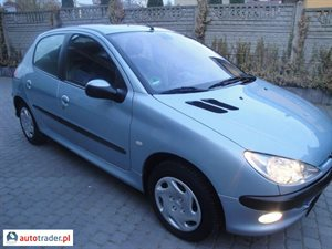 Peugeot 206 1.6 2004 r.,   10 800 PLN