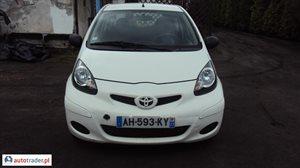 Toyota Aygo 1.0 2011 r.,   12 600 PLN