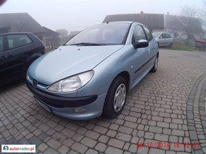 Peugeot 206 1.4 2003 r.,   7 200 PLN
