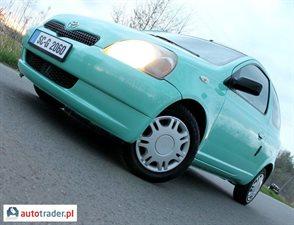 Toyota Yaris 1.0 1999 r.,   7 200 PLN