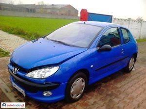 Peugeot 206 1.1 2004 r.,   3 999 PLN