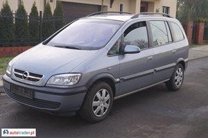 Opel Zafira 2.0 2005 r.,   13 500 PLN