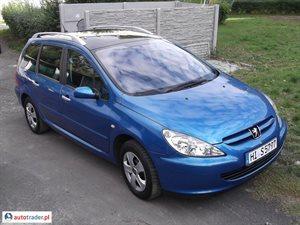 Peugeot 307 2.0 2002 r.,   11 999 PLN