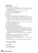 Dacia Logan 1.4 2007 r.,   8 400 PLN