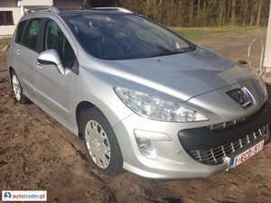 Peugeot 308 1.6 2009 r.,   18 700 PLN