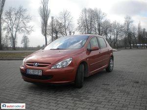 Peugeot 307 2.0 2001 r.,   9 800 PLN