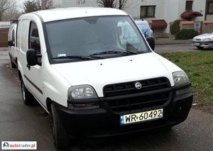 Fiat DOBLO 1.2 BENZ VAT1 REJESTRACJA FAKTURA 2004 r.,   8 900 PLN