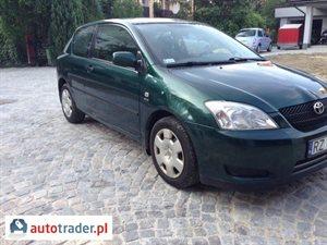 Toyota Corolla 1.4 2002 r.,   11 800 PLN