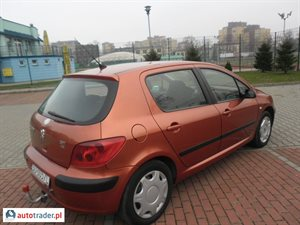 Peugeot 307, 2002r.,   9 400 PLN