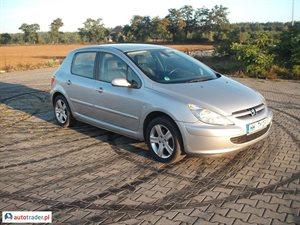 Peugeot 307 1.6 2002 r.,   10 500 PLN