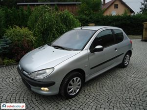 Peugeot 206 1.4 2003 r.,   6 900 PLN