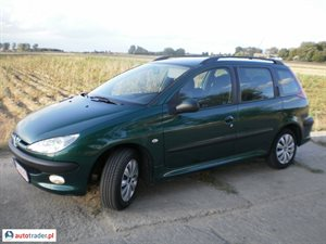 Peugeot 206 1.4 2005 r.,   7 400 PLN