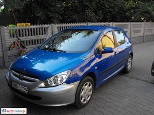 Peugeot 307 2.0 2003 r.,   8 999 PLN