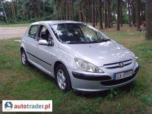 Peugeot 307 1.6 2002 r.,   8 300 PLN