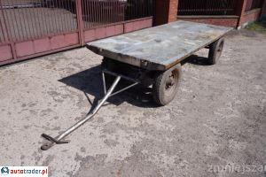 Wózek czterokołowy PLATFORMA 120x290 cm Koła powietrzne - zobacz ofertę