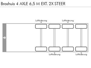 BROSHUIS 4 AXLE 6,5 M EXT.