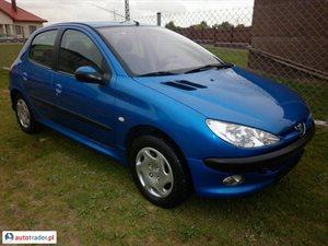 Peugeot 206 1.4 2003 r.,   9 500 PLN