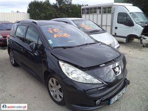 Peugeot 207 1.6 2007 r.,   11 900 PLN