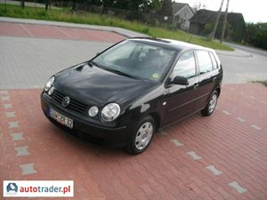 Volkswagen Polo 1.2 2004 r.,   14 600 PLN