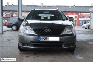 Toyota Corolla, 2002r.,   9 900 PLN