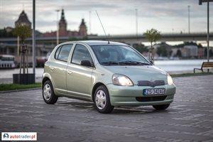 Toyota Yaris 1.3 2002 r.,   9 800 PLN