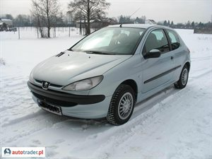 Peugeot 206 1.1 2001 r.,   6 900 PLN