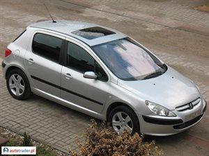 Peugeot 307 1.6 2002 r.,   11 700 PLN